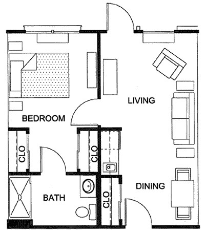 480 sq. ft. floor plan