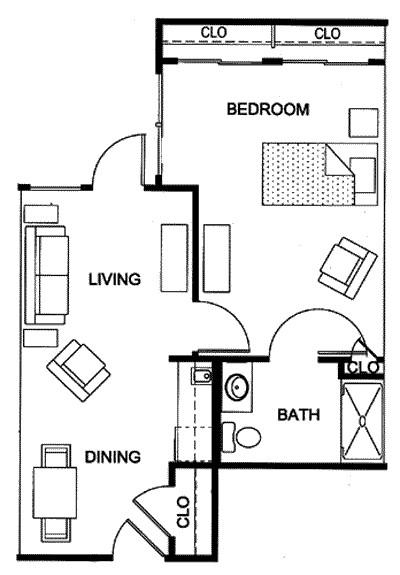 563 sq. ft. floor plan
