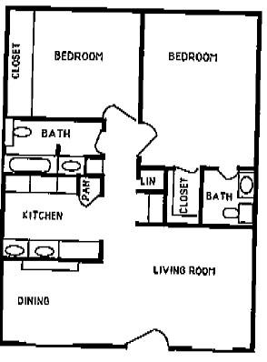 900 sq. ft. INDIAN HEATHER floor plan