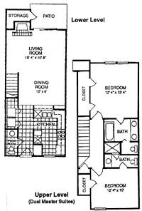 1,089 sq. ft. C floor plan