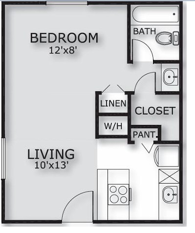 450 sq. ft. floor plan