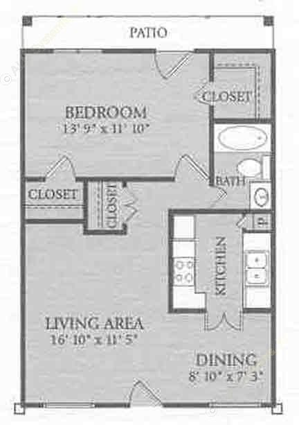 707 sq. ft. A1COTTAG floor plan