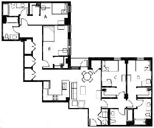 1,687 sq. ft. to 1,692 sq. ft. D4 floor plan