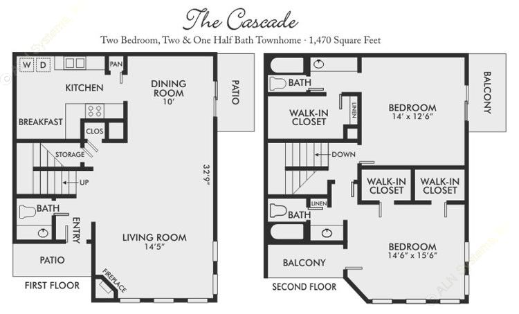1,470 sq. ft. Cascade floor plan