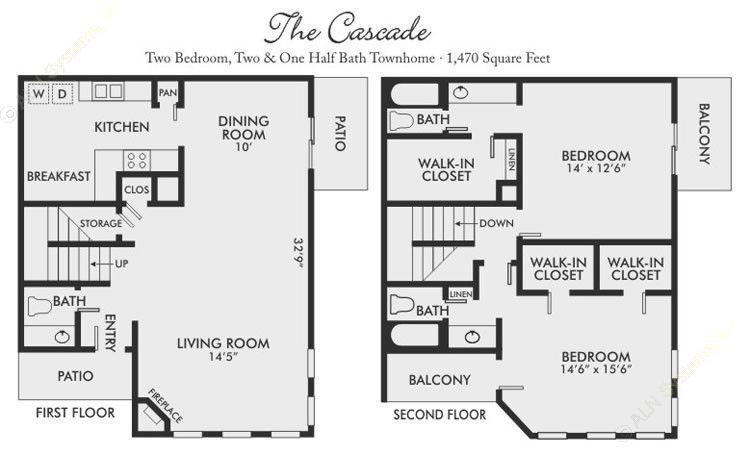 1,470 sq. ft. Cascade floor plan