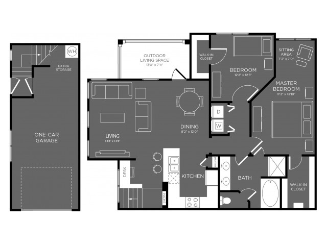 1,181 sq. ft. Meadow floor plan