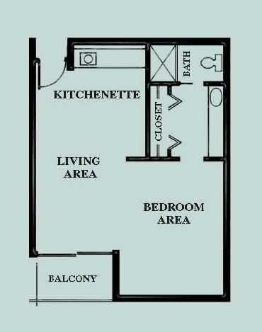 338 sq. ft. Villa Suite floor plan