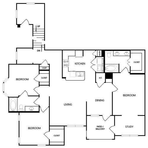 1,597 sq. ft. C2G floor plan