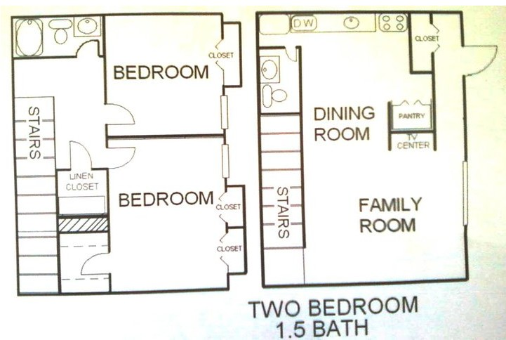 1,010 sq. ft. Ponderosa floor plan