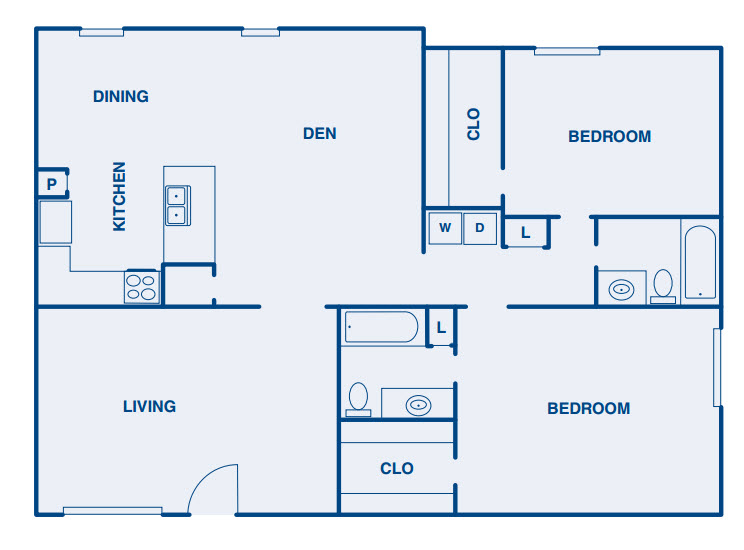 1,690 sq. ft. B4 floor plan
