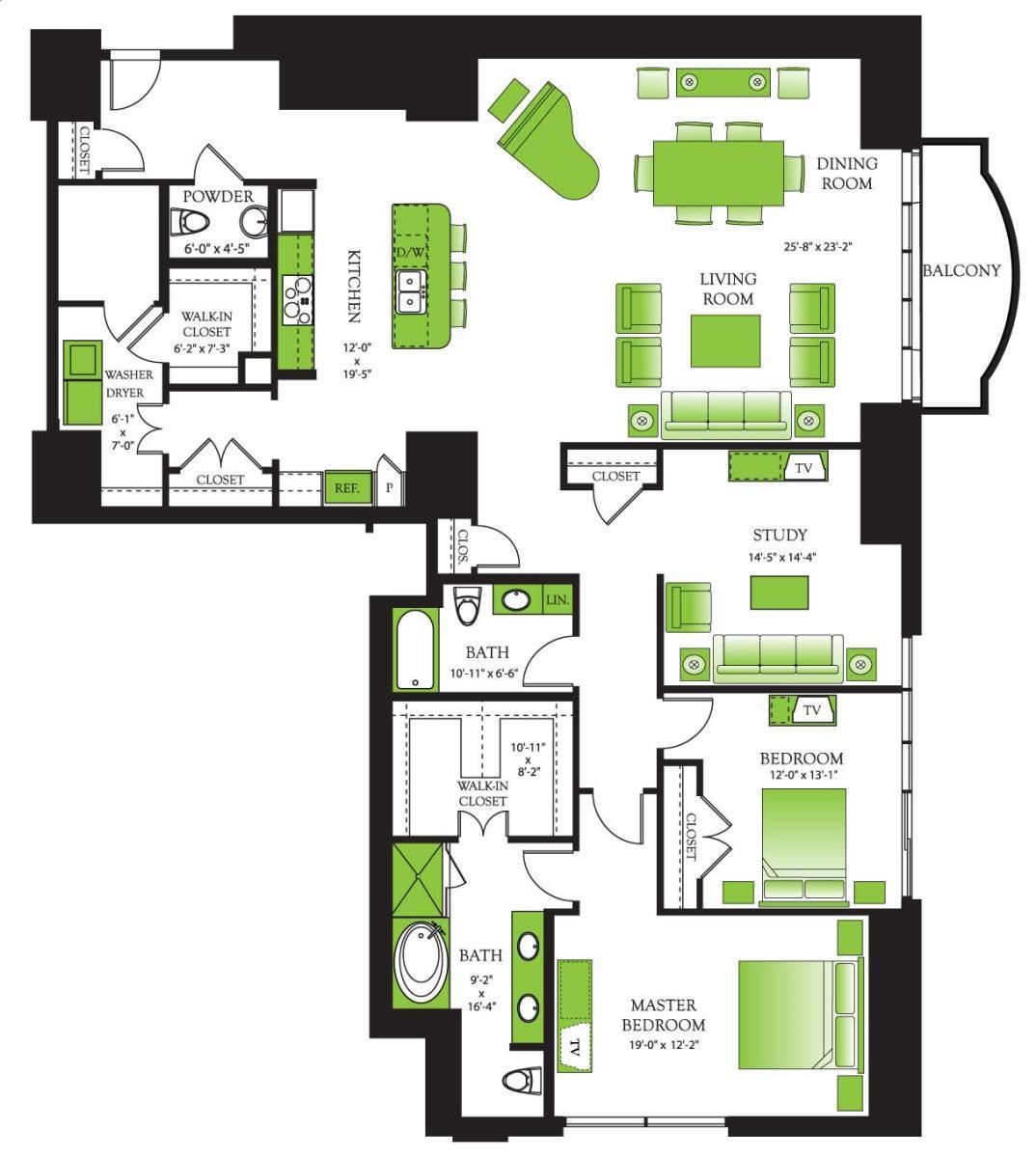 2,520 sq. ft. Douglas Fir floor plan