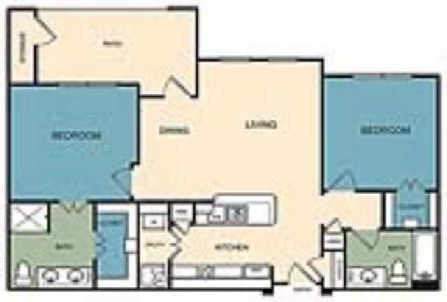 1,031 sq. ft. Boulder floor plan