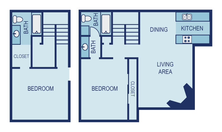1,155 sq. ft. D floor plan