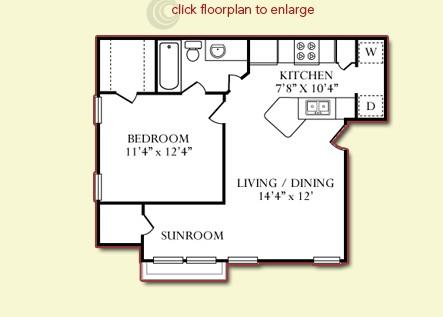 624 sq. ft. Yellow Stone Upstairs floor plan