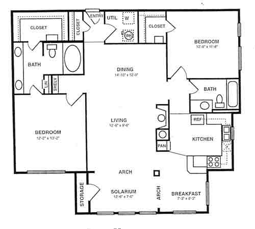 1,315 sq. ft. B5 floor plan