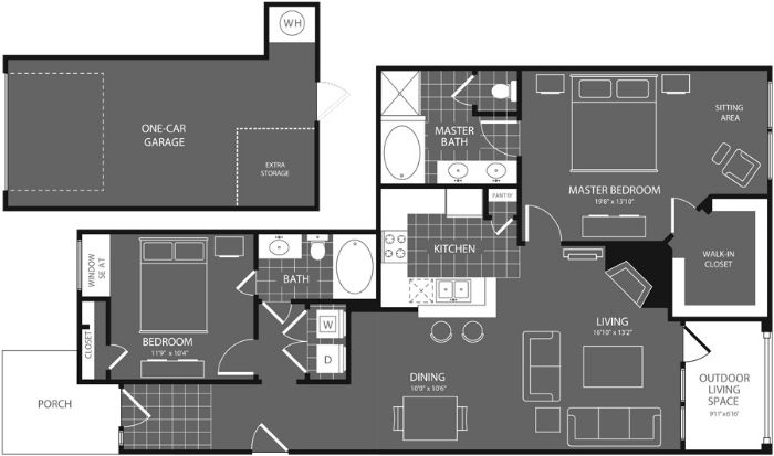 1,246 sq. ft. Mesquite floor plan