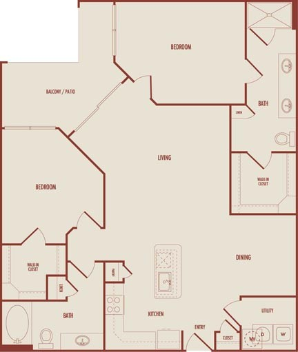 1,266 sq. ft. C2ALT3 floor plan