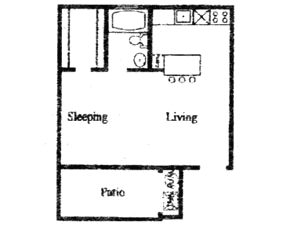 440 sq. ft. B floor plan
