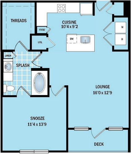 762 sq. ft. to 783 sq. ft. A5 floor plan