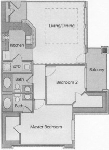 1,020 sq. ft. Catalina floor plan