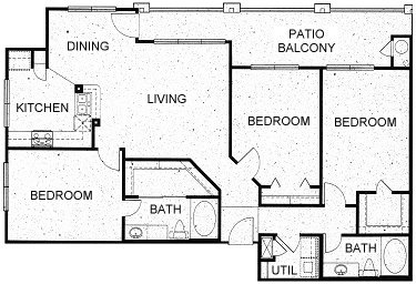 1,351 sq. ft. C1 floor plan