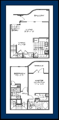 1,302 sq. ft. COZUMEL floor plan