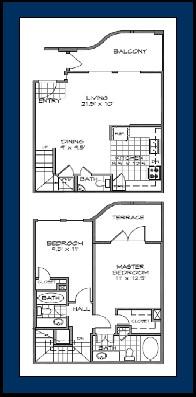 1,302 sq. ft. COZUMEL floor plan