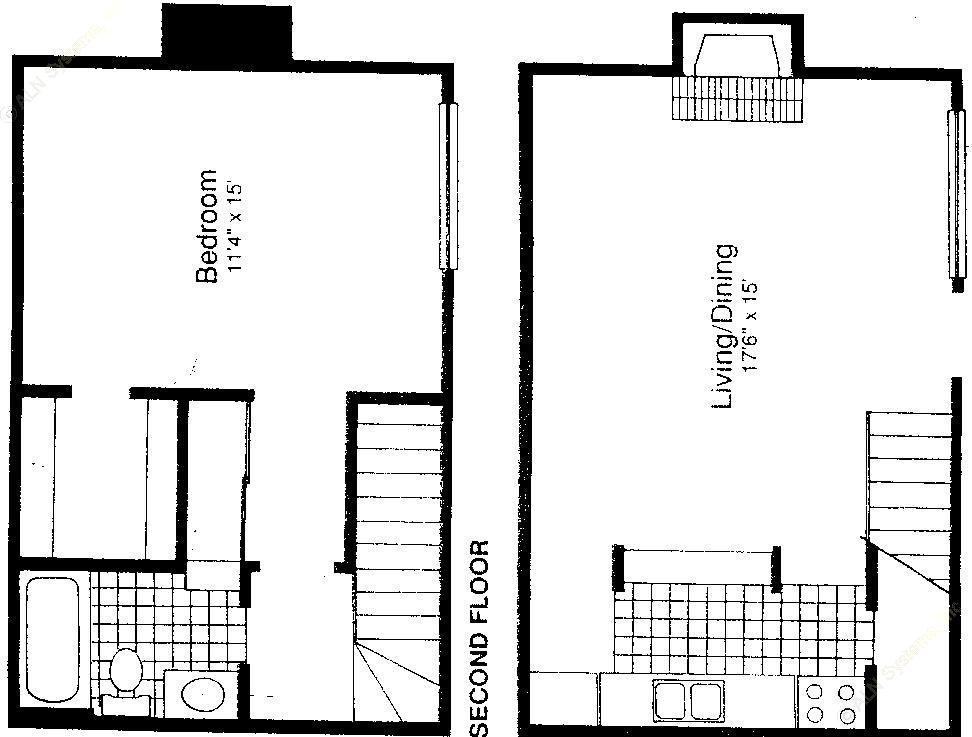 776 sq. ft. A-4 floor plan