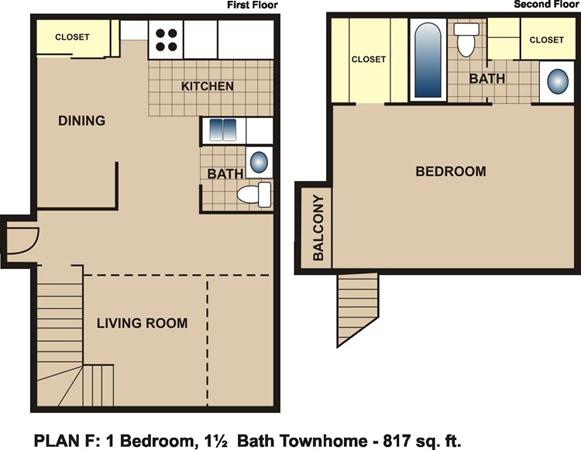 817 sq. ft. F floor plan