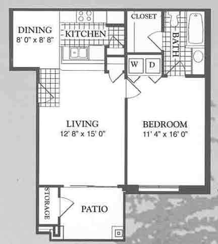 700 sq. ft. Villa floor plan