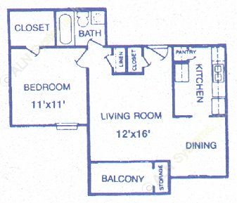618 sq. ft. Sandstone floor plan
