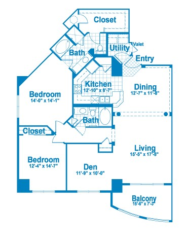 1,643 sq. ft. CT2.1/A floor plan