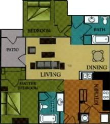1,042 sq. ft. Ventura/60 floor plan
