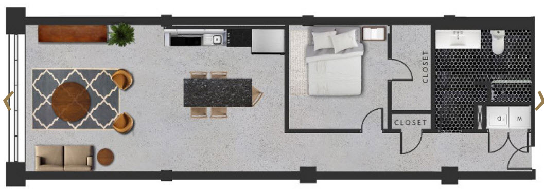 930 sq. ft. A floor plan