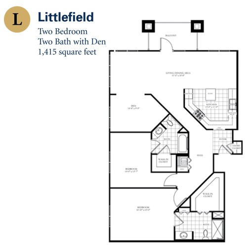 1,415 sq. ft. Littlefield floor plan