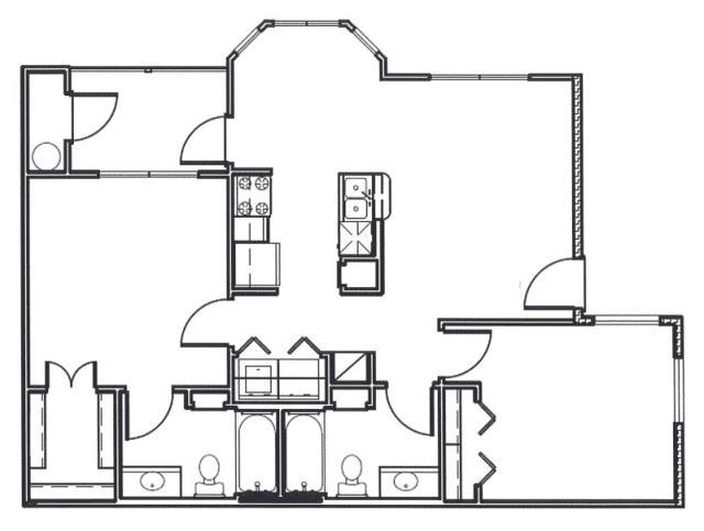 967 sq. ft. Colorado floor plan