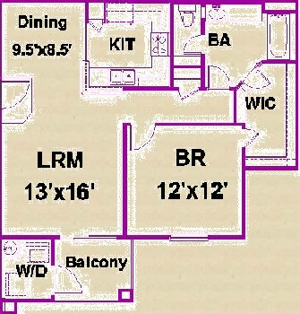 769 sq. ft. D/60 floor plan