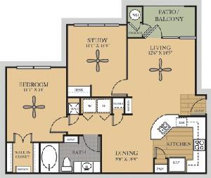 918 sq. ft. A3/Nueces floor plan