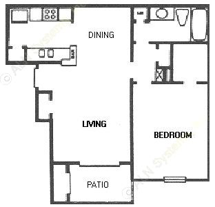 670 sq. ft. C11/C1R floor plan