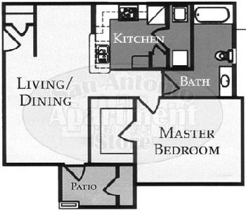 758 sq. ft. Sterling/60% floor plan