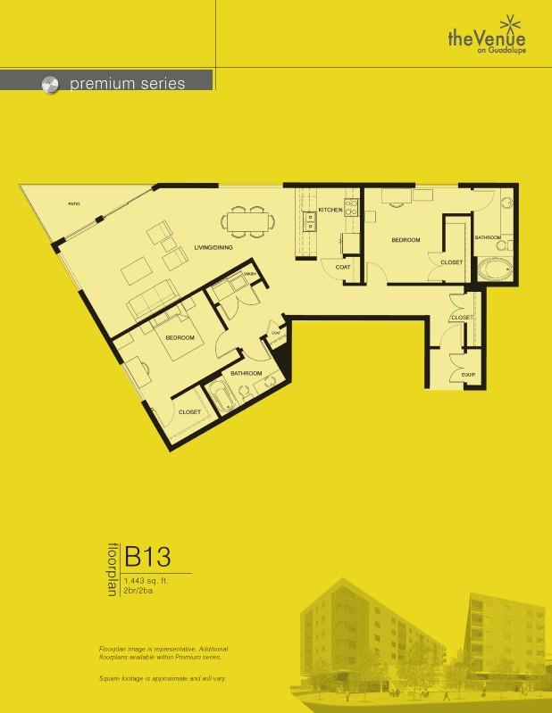 1,443 sq. ft. B13 floor plan