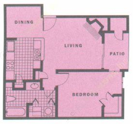 658 sq. ft. PHOENIX floor plan
