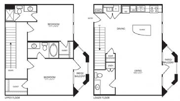1,306 sq. ft. B9 floor plan