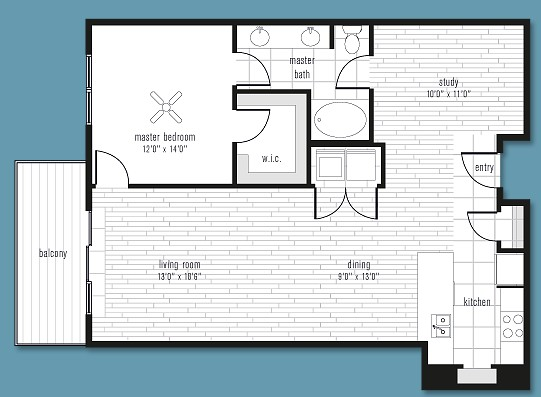 1,055 sq. ft. to 1,370 sq. ft. A floor plan