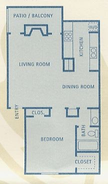 718 sq. ft. Leo floor plan