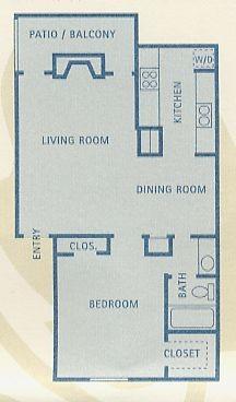 718 sq. ft. Leo floor plan