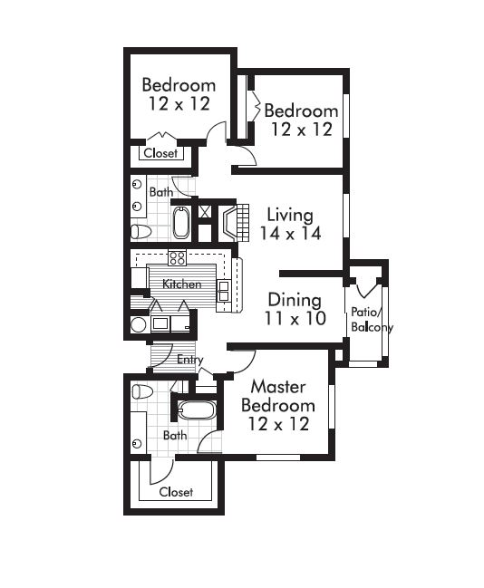 1,390 sq. ft. Sudbury floor plan