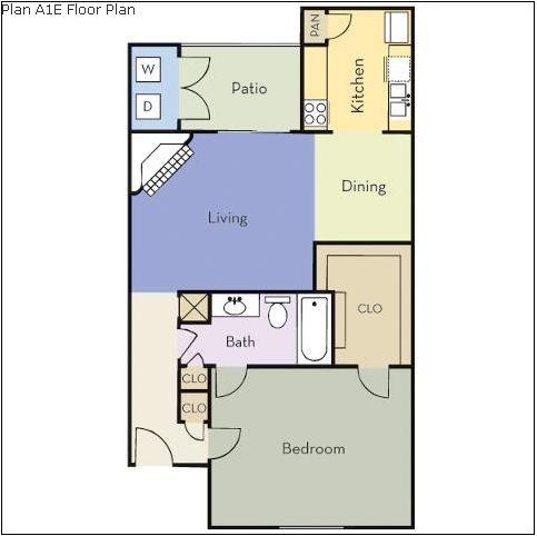 950 sq. ft. Red Pine floor plan