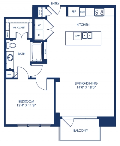 823 sq. ft. A8.5 floor plan