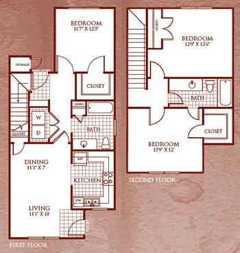 1,217 sq. ft. C2/60 floor plan